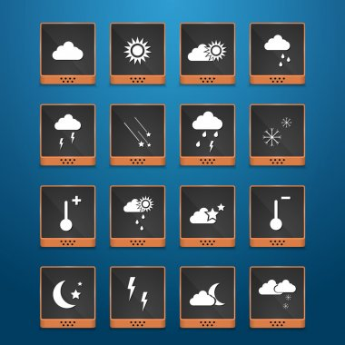 Weather web icons set stock vector