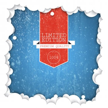 Vector label limited edition on snow background stock vector