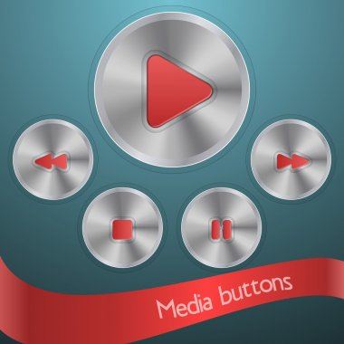 Media buttons  banner vector illustration stock vector