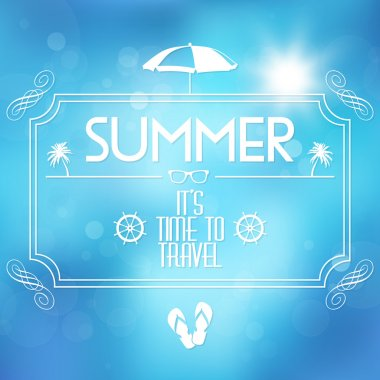 Summer  banner vector illustration stock vector