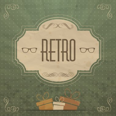 Retro  banner vector illustration stock vector
