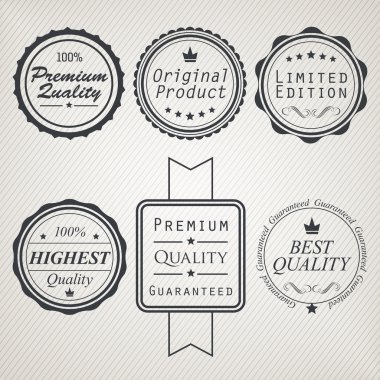 Sale, best offer, summer sales, high quality labels and signs stock vector