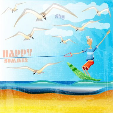 Summer  banner vector illustration stock vector
