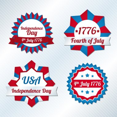 USA independence day symbols stock vector