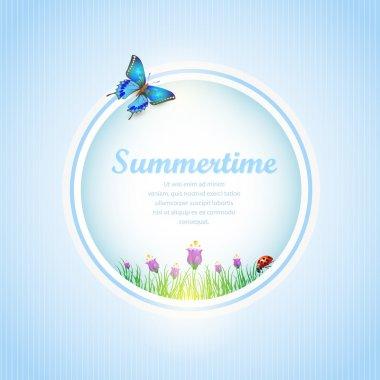 Summer time  banner vector illustration stock vector