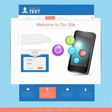 Phone  banner vector illustration stock vector
