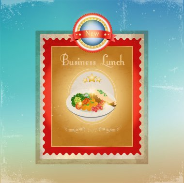 Business lunch menu template stock vector
