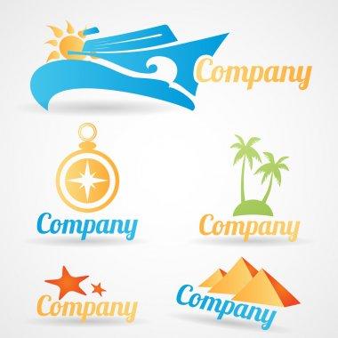 Collection of vector logos for travel tourist companies stock vector