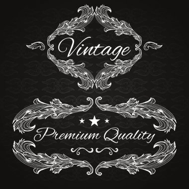 Premium quality. Retro vector frame stock vector