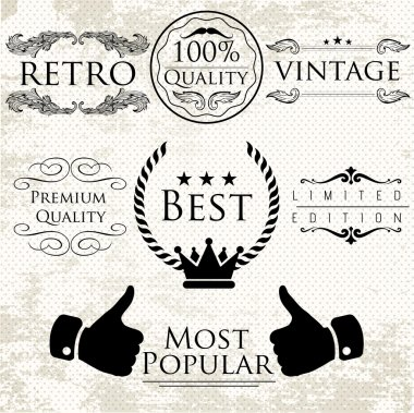 Set of vintage vector labels for premium quality items stock vector