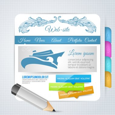 Set of vector elements and templates for web page design stock vector