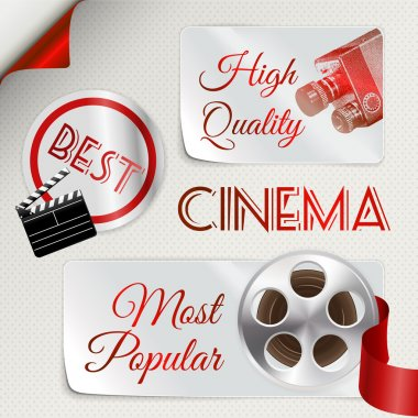 Cinema icons set. Vector illustration stock vector