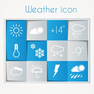 Weather widget and icons stock vector