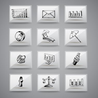 Analog icons  vector illustration stock vector
