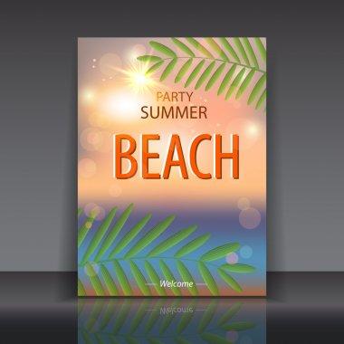 Summer,beach  vector illustration stock vector