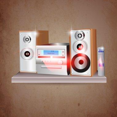 Music stereo vector illustration stock vector