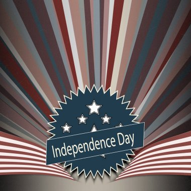 Independence Day postcard design stock vector