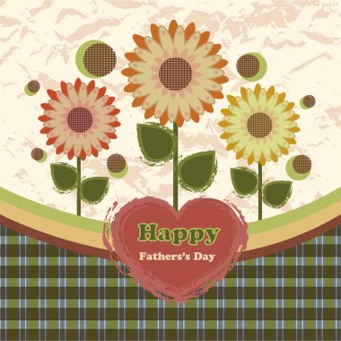 Happy fathers day card vintage retro stock vector