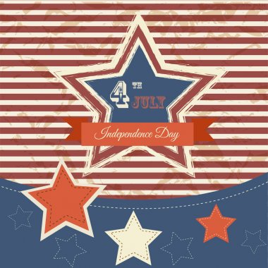 Vector independence day poster. Retro vintage version stock vector