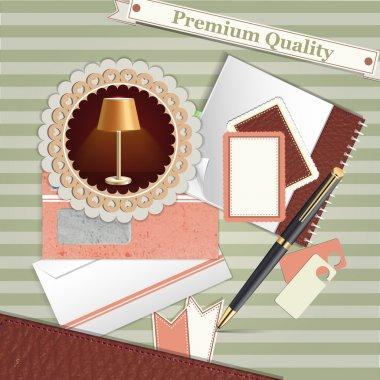 Vintage background premium quality stock vector