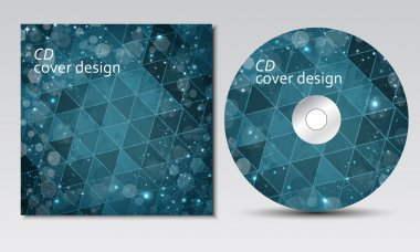 CD cover design template with text space