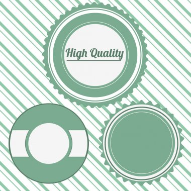 Vector badges. High quality stock vector