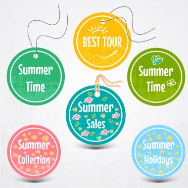 Vector set of stickers for summertime stock vector