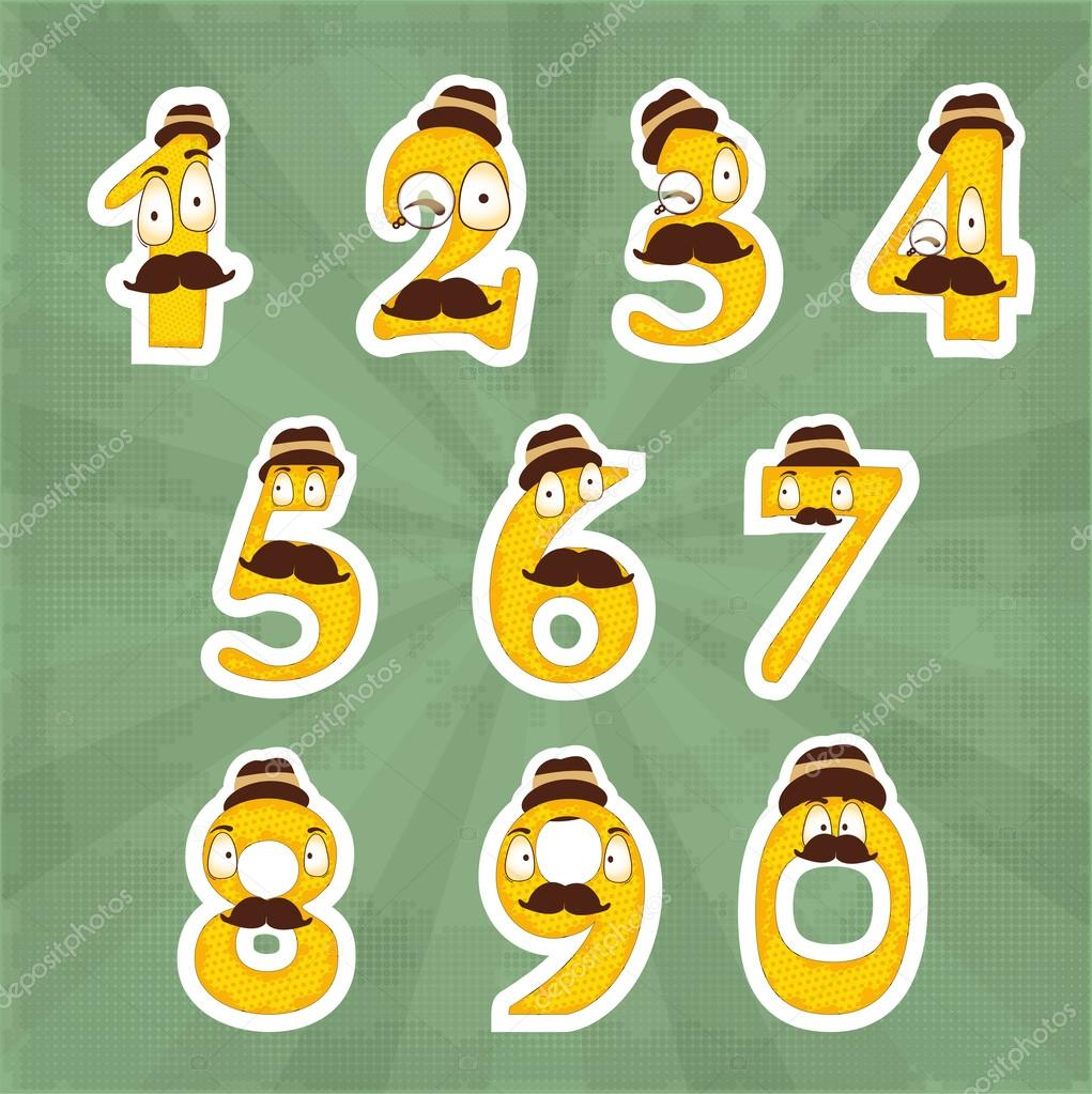 Funny digits  banner vector illustration stock vector