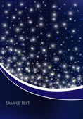 Vector background with night sky