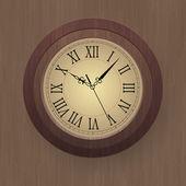 vektorové ilustrace dřevěné nástěnné hodiny.
