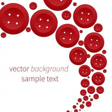 Vector background with red buttons stock vector