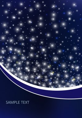 Vector background with night sky stock vector
