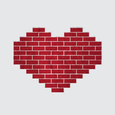 Vector heart of bricks stock vector