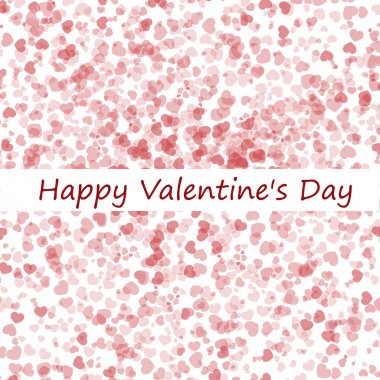 Valentine's day background with hearts stock vector
