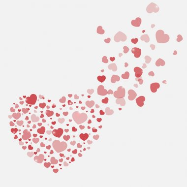Vector background with hearts stock vector