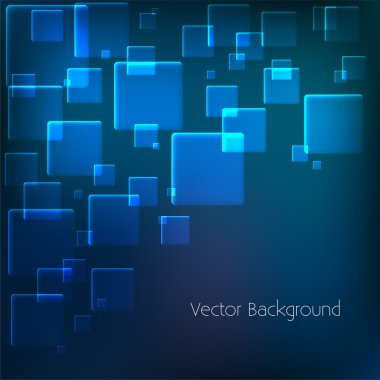 Vector background with blue squares. stock vector