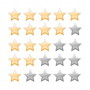Vector set of star buttons. stock vector
