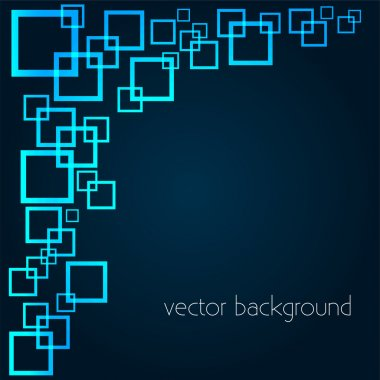 Vector background with squares. stock vector