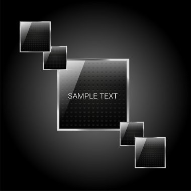 Vector square glassy buttons stock vector
