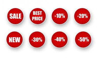 Vector set of sale labels. stock vector