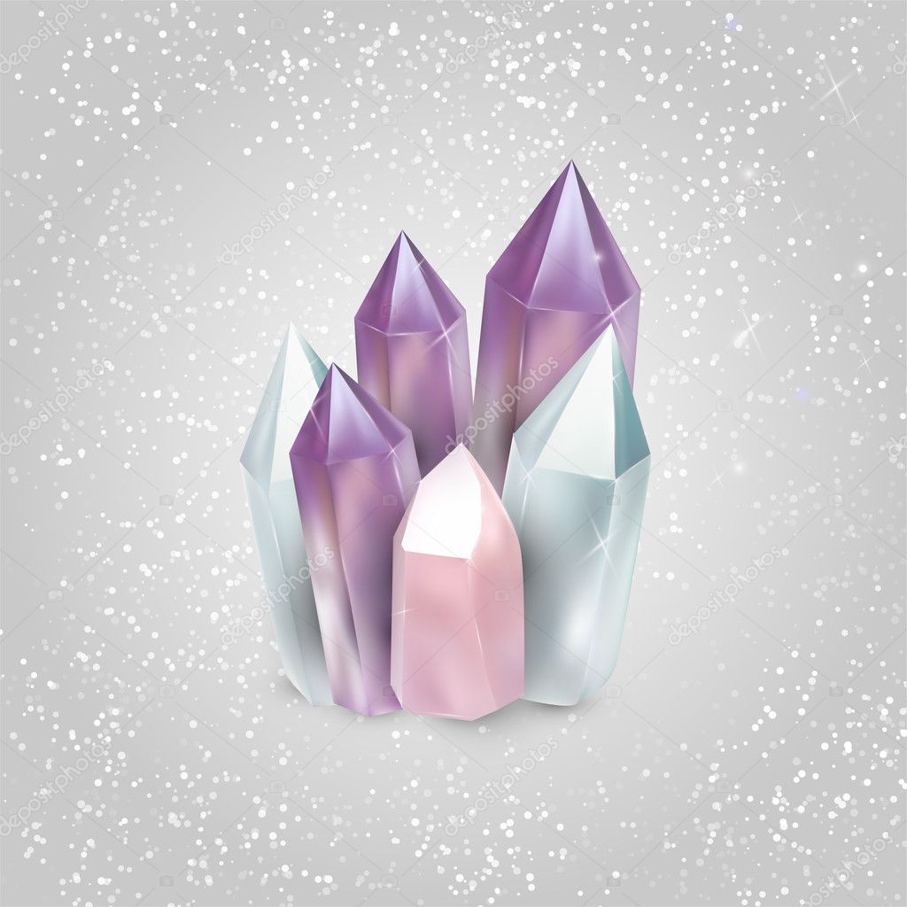 Vector illustration of crystals.
