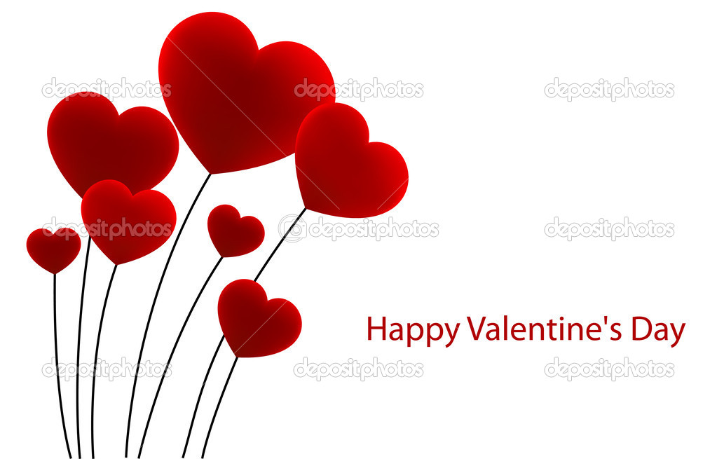 Bouquet of flowers in a heart shaped. Vector illustration. stock vector