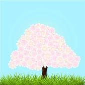 vektorové ilustrace Kvetoucí strom.