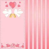 Vintage růžová přání k svatbě