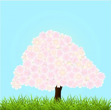 Vector illustration of a blossom tree. stock vector