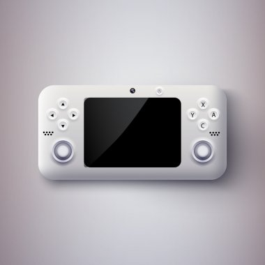 Vector illustration of a game console. stock vector