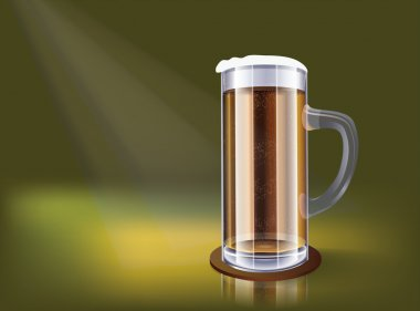 Excellent glass of beer - vector illustration stock vector