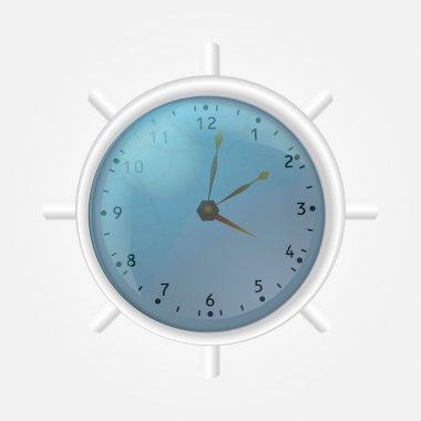 White clock. Vector illustration stock vector