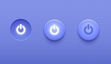 Power Switch icons, vector buttons stock vector