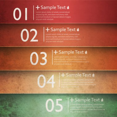 Colorful number option banners stock vector